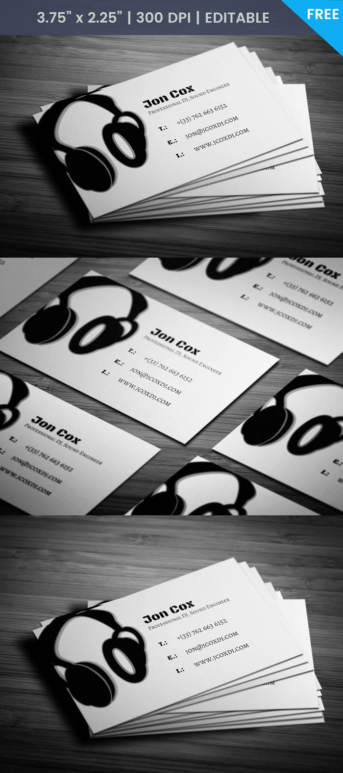 Free Music Production Business Card Template