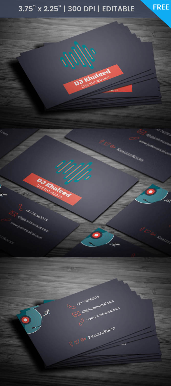 Free Djing Business Card Template