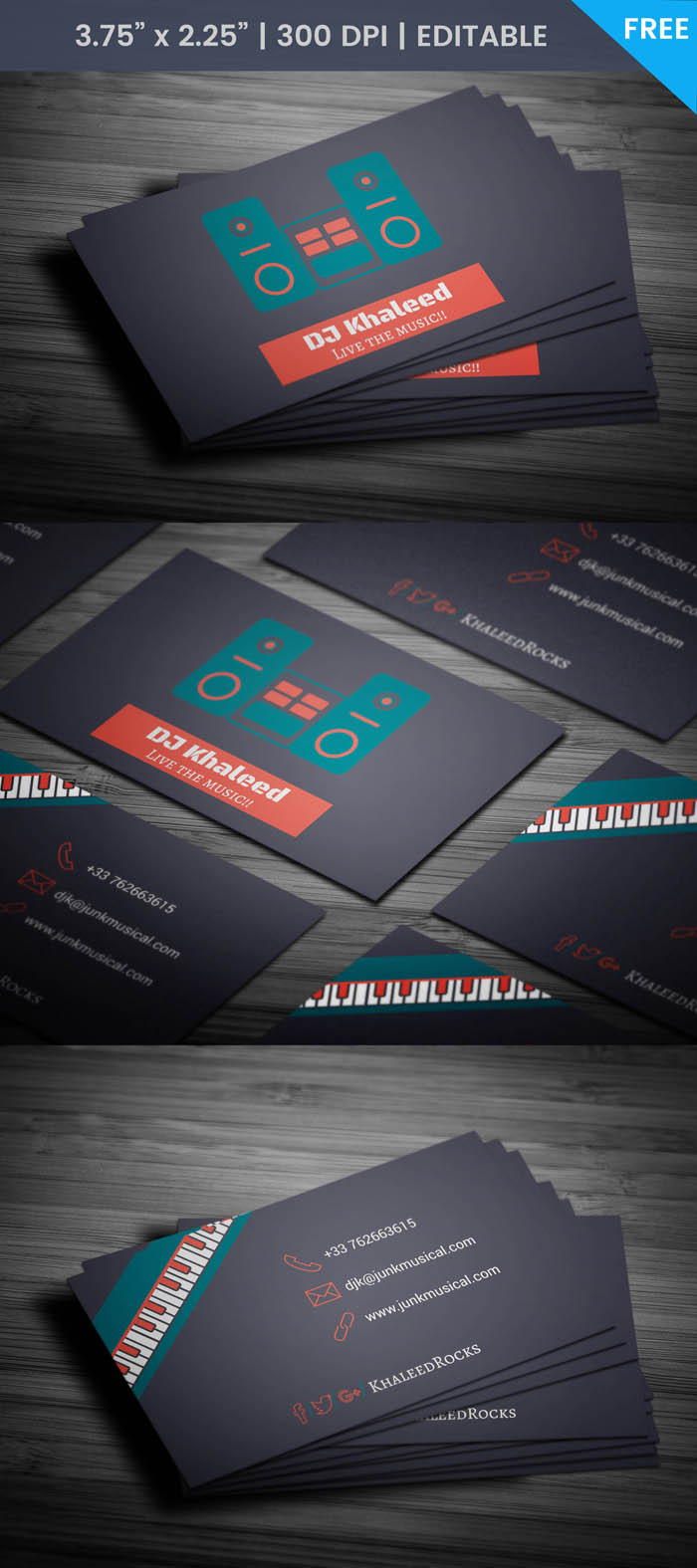 Free Cassette Tape Business Card Template
