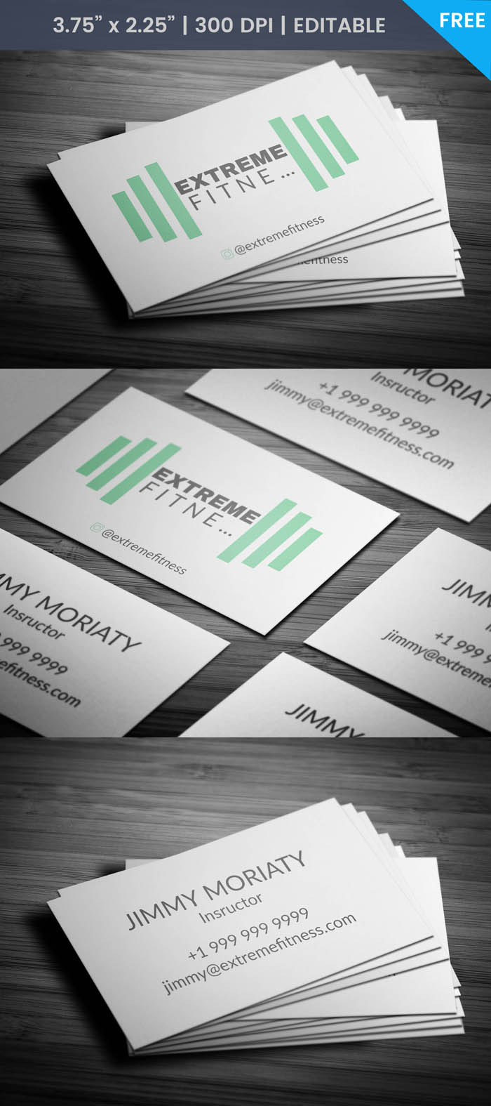Free Health Instructor Business Card Template