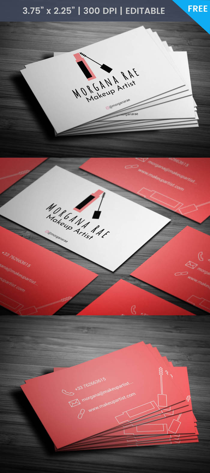 Eyelash Business Card - Full Preview