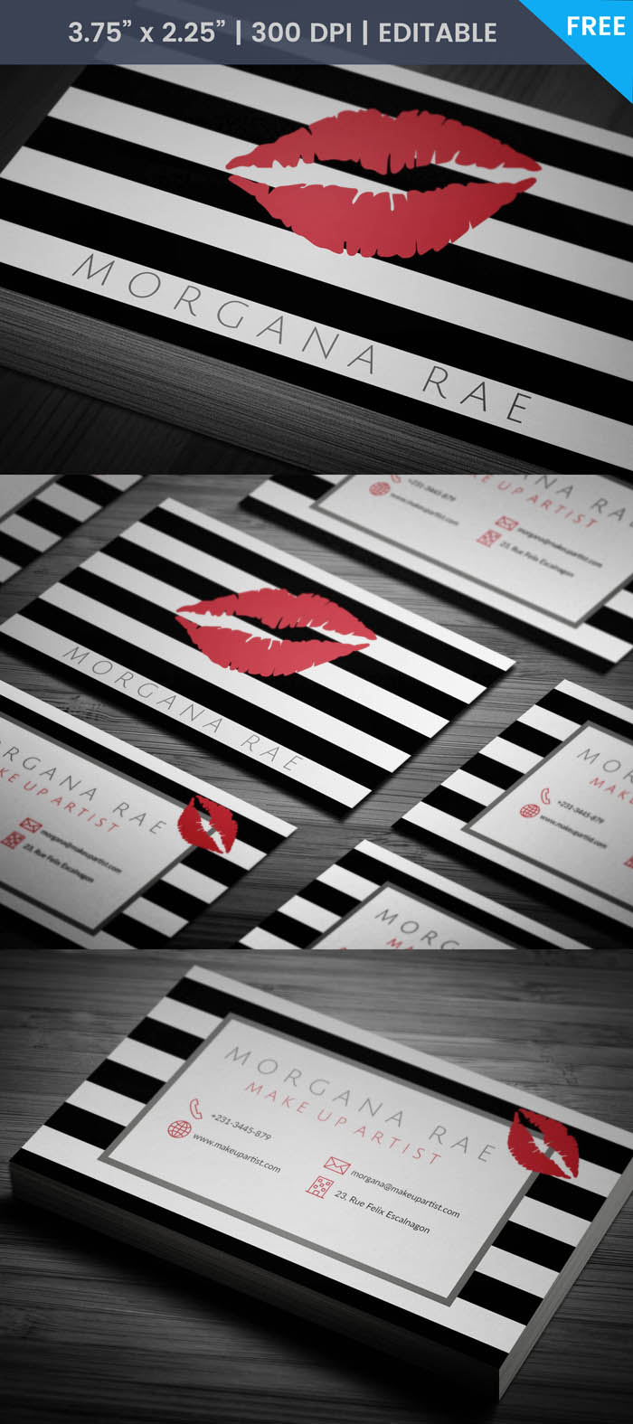 Free Lipsense Business Card Template