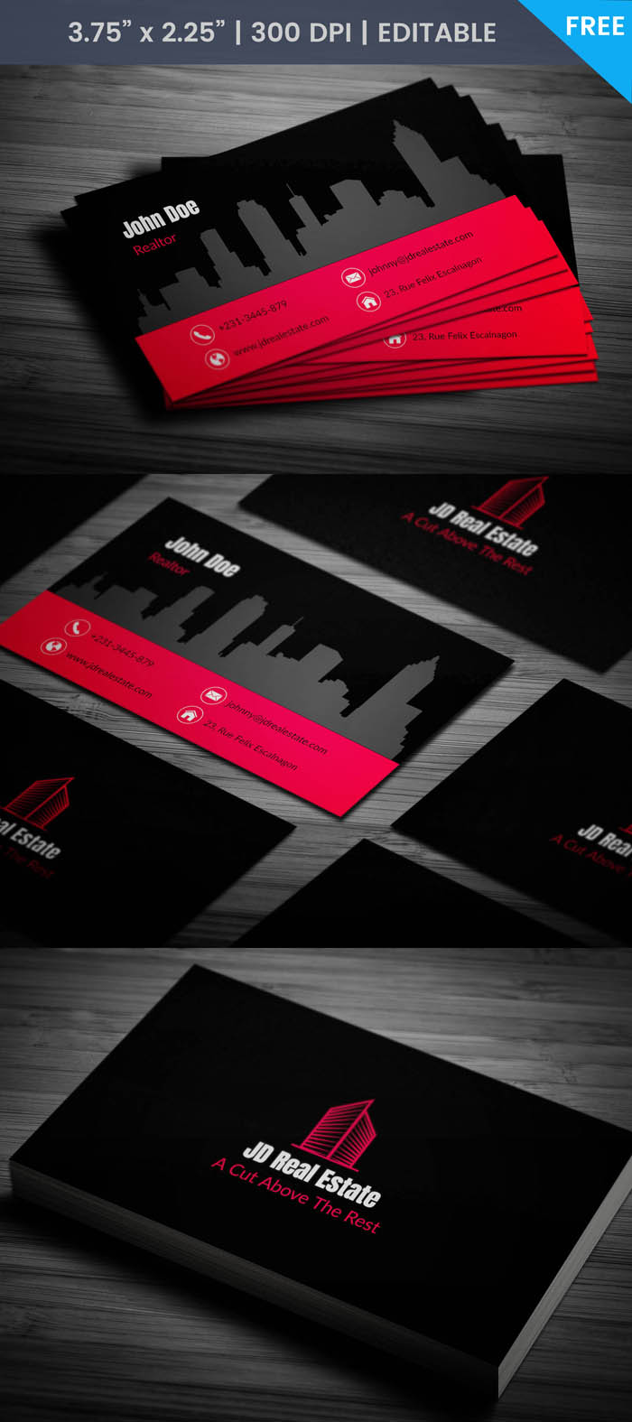 Free Realtor Business Card Template