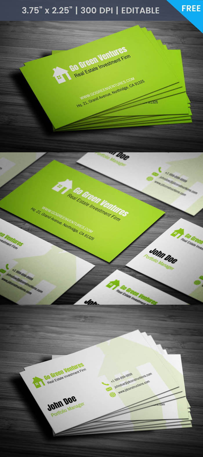 Free Real Estate Investor Business Card Template