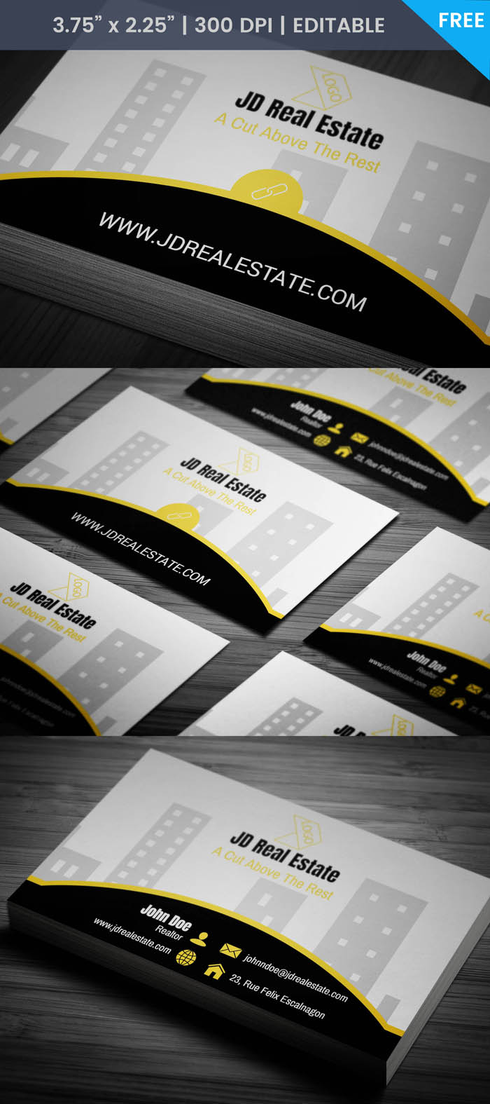 Real Estate Salesperson Business Card - Full Preview