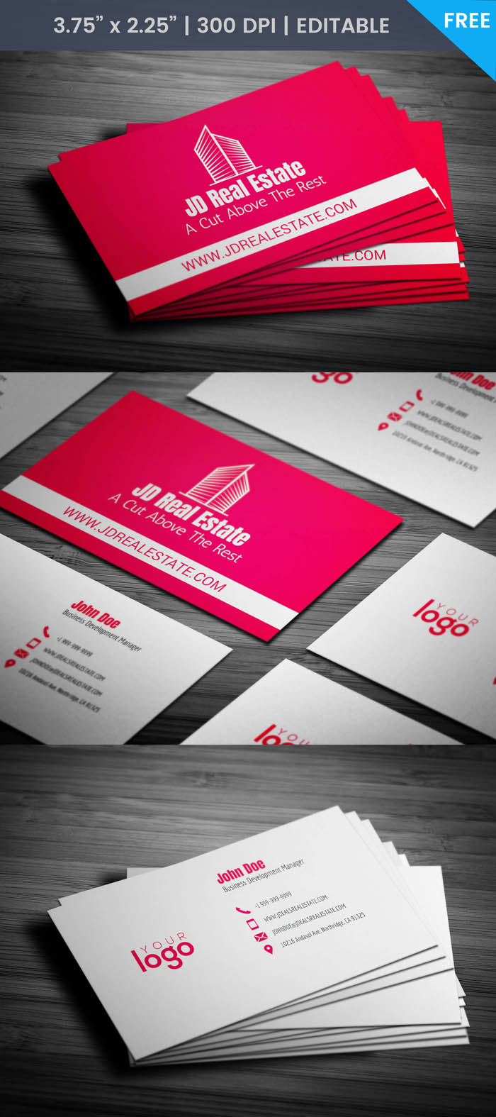 Free Minimal Realtor Business Card Template