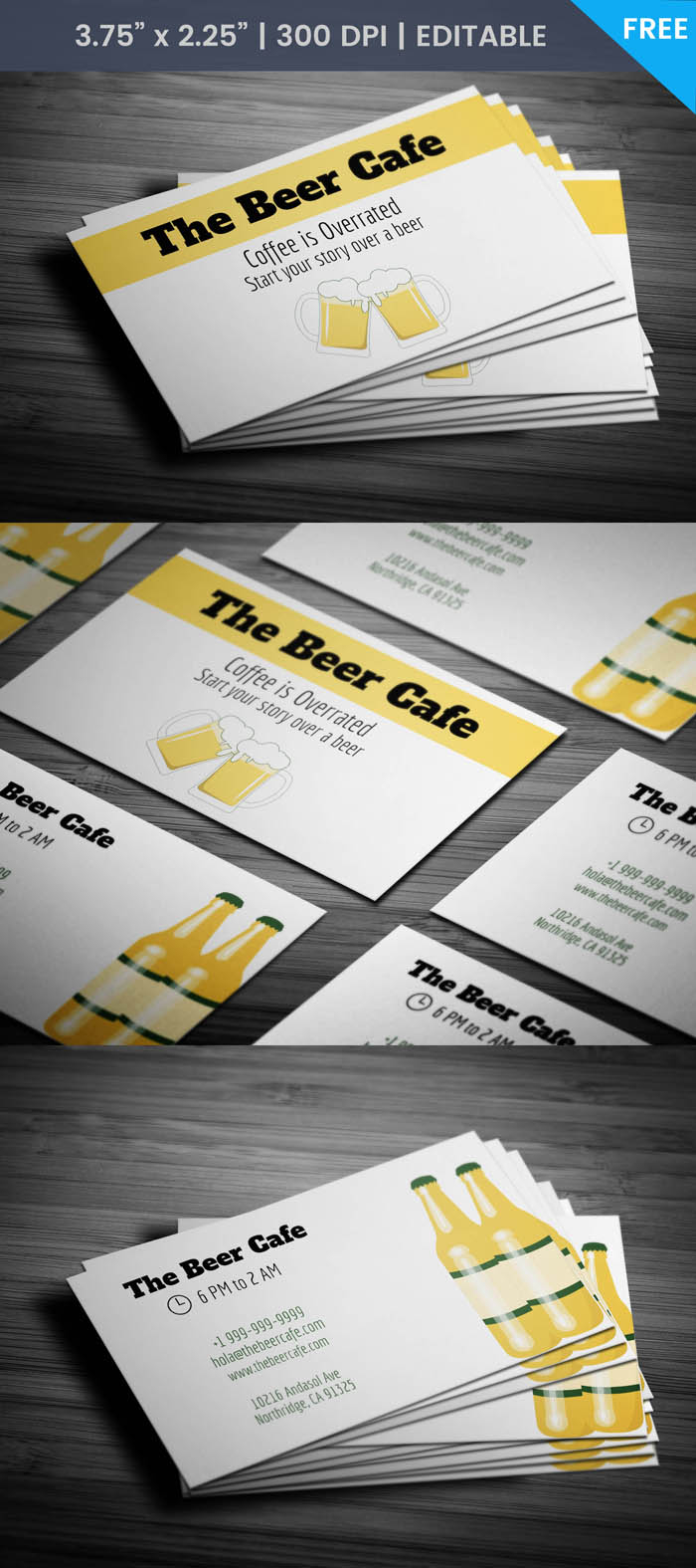 Free Cafe Express Business Card Template