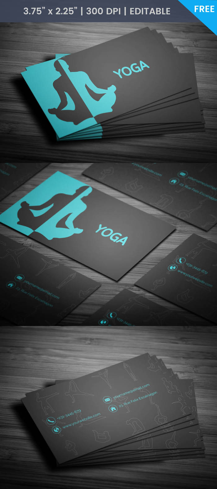 Free Yoga Instructor Business Card Template