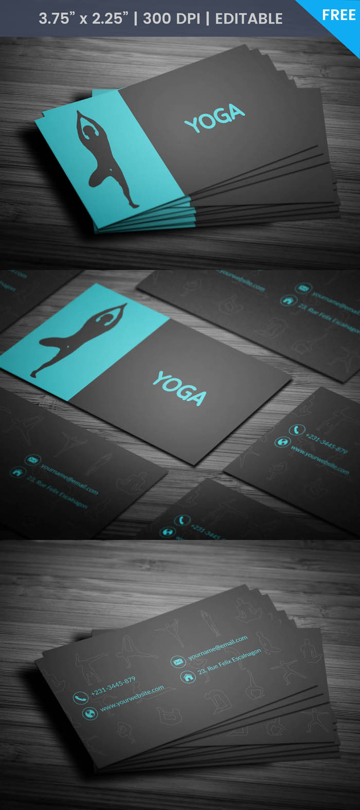 Free Prenatal Yoga Business Card Template