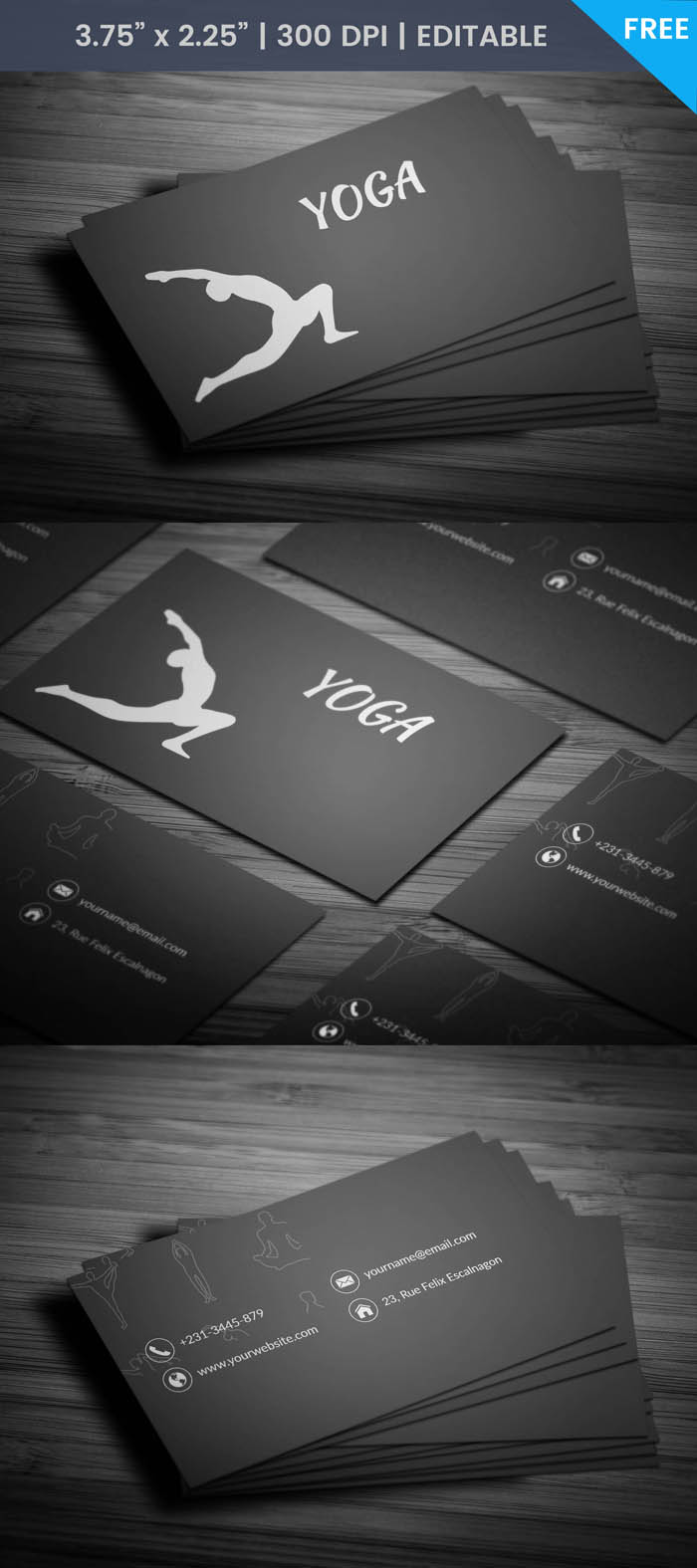Free Yoga Studio Business Card Template
