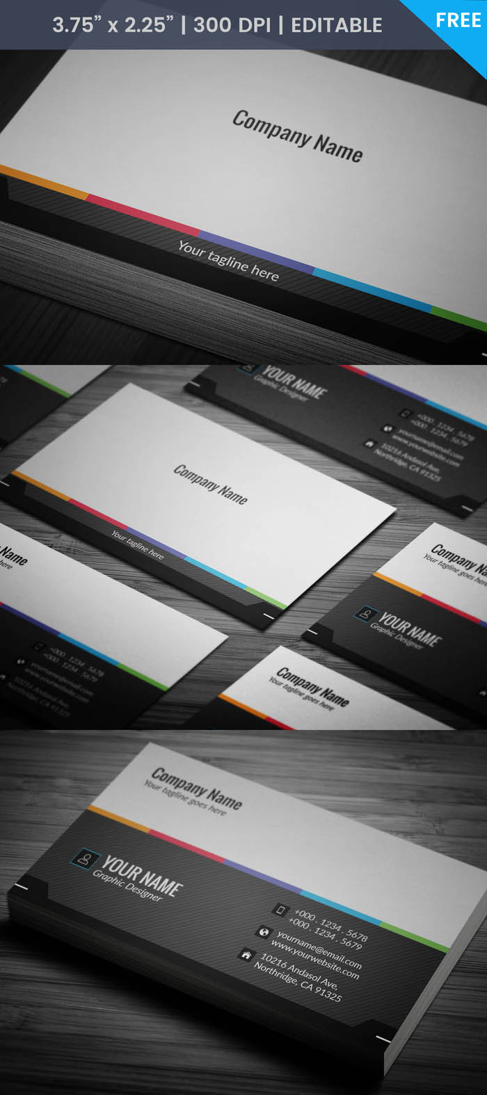 Free Minimalist Grey Business Card Template