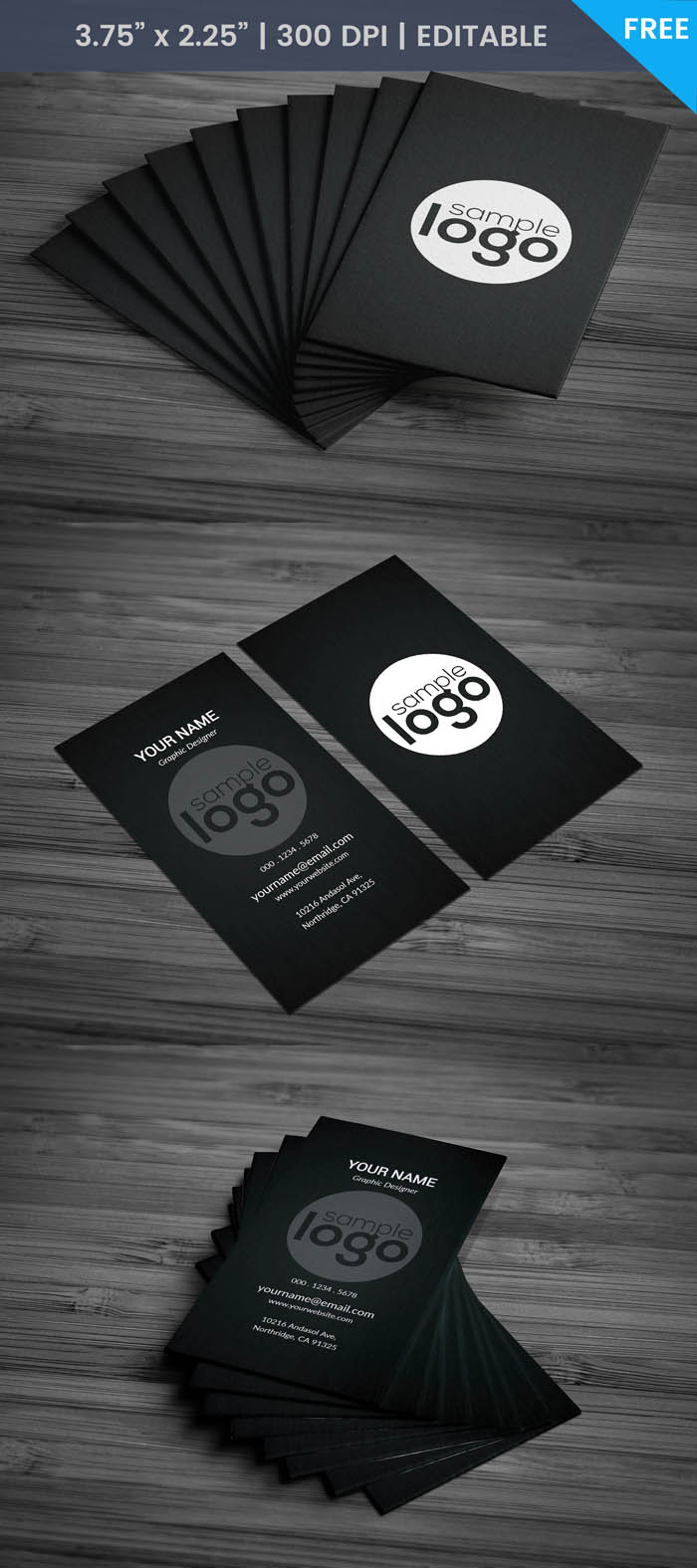 Free Black Architect Business Card Template
