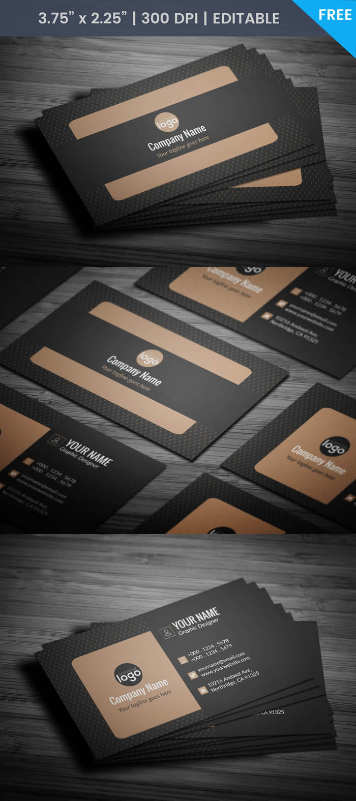 Free Luxury Business Card Template