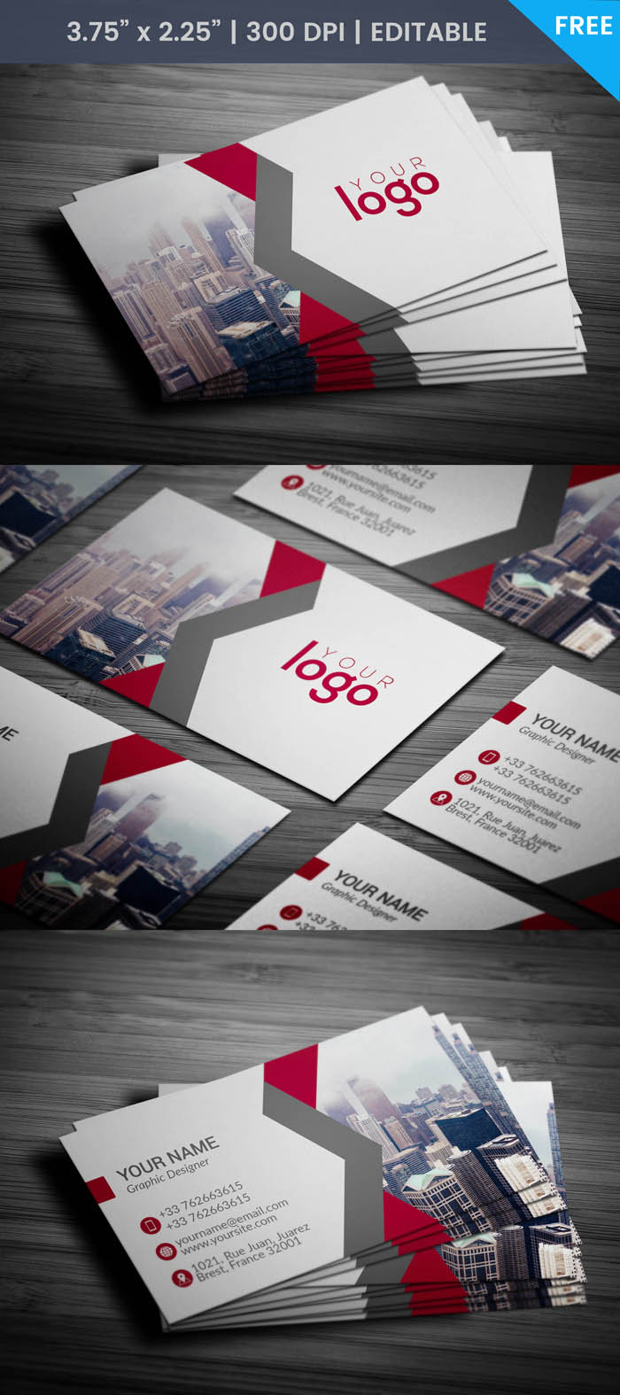 Free Independent Contractor Business Card Template