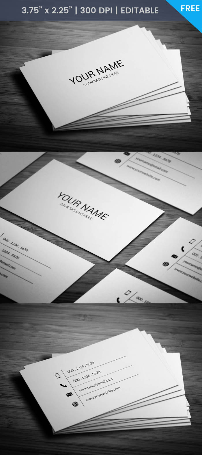 Free Black And White Business Card Template