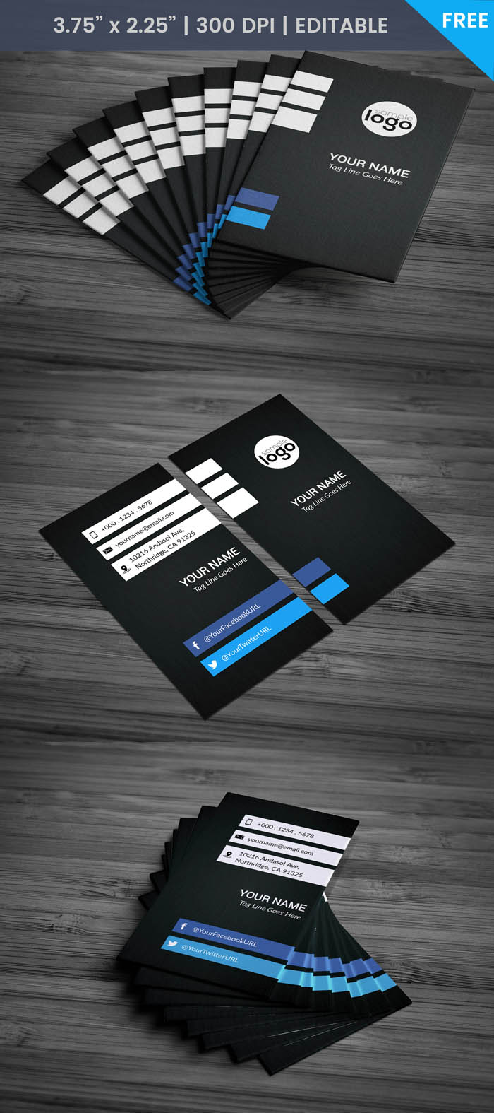Free Freelance Business Card Template