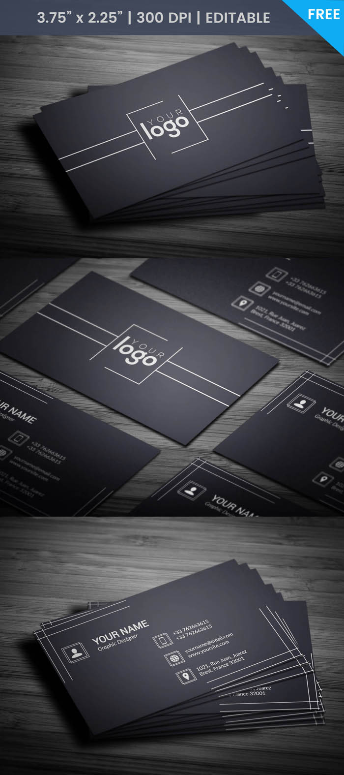 Free Fashion Photographer Business Card Template