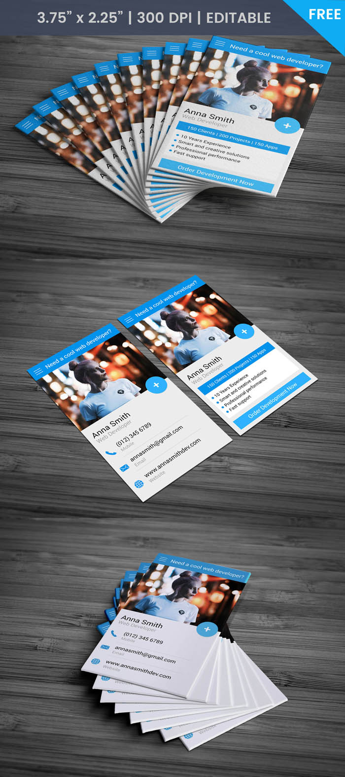 Free Webmaster Business Card Template