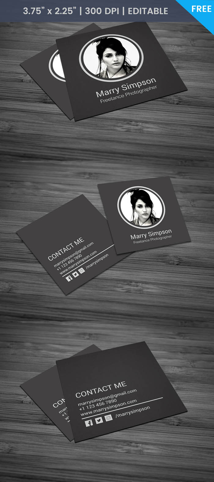 Free Chic Fashion Designer Business Card Template