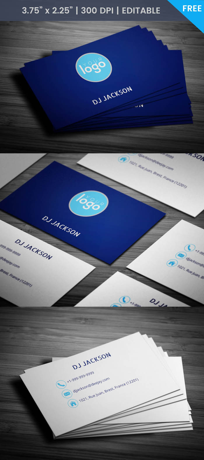 Minimal Dj Business Card - Full Preview