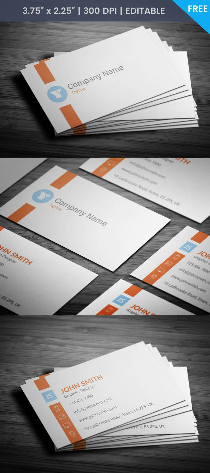 Free Elegant Designer Business Card Template