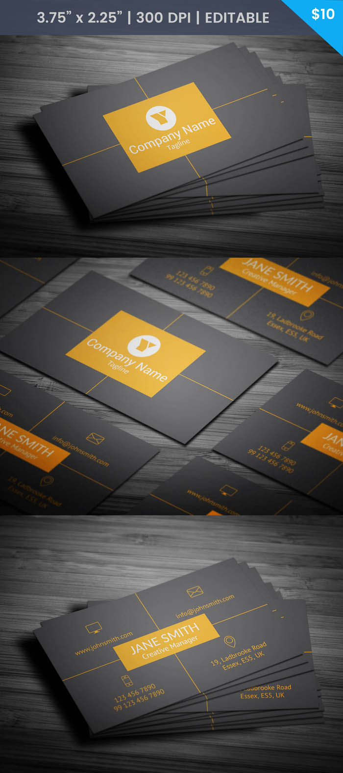 Free Social Media Manager Business Card Template