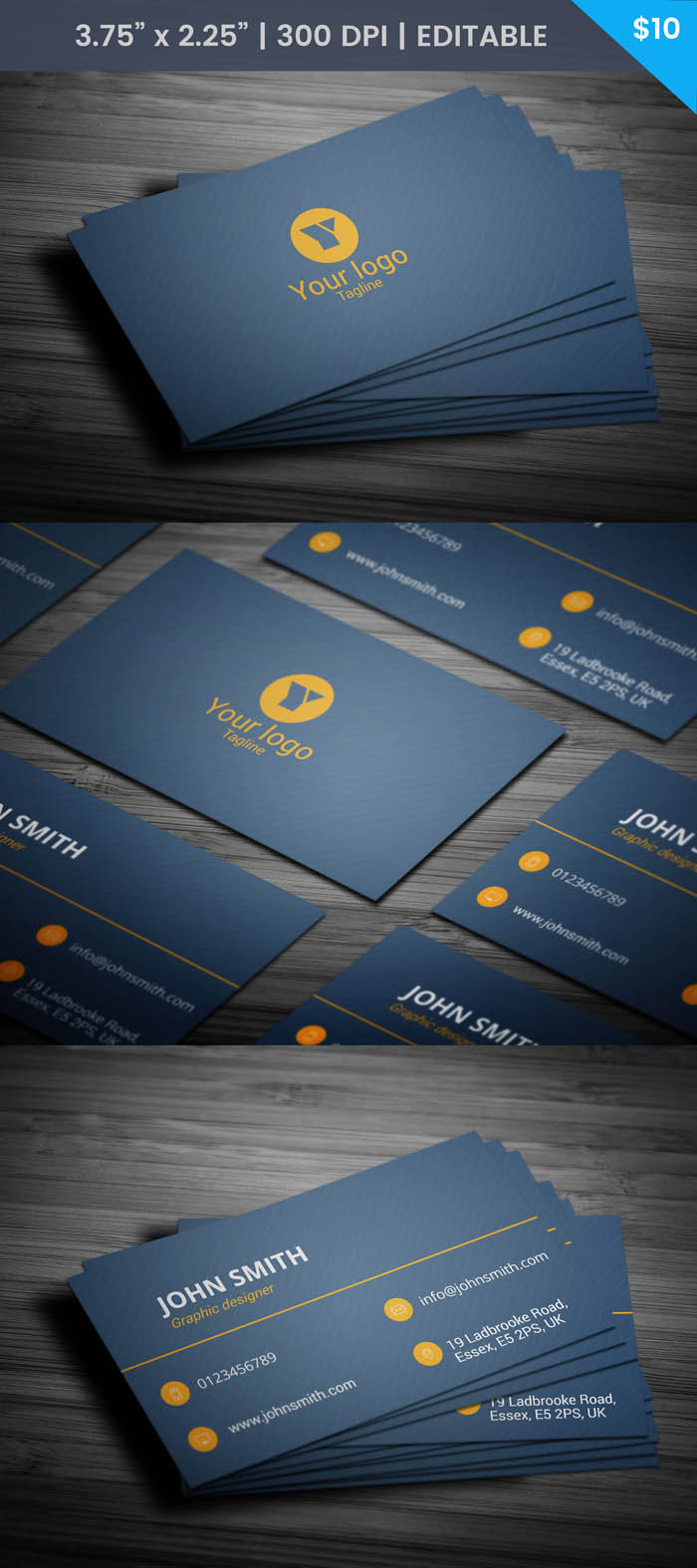Free Blogging Business Card Template
