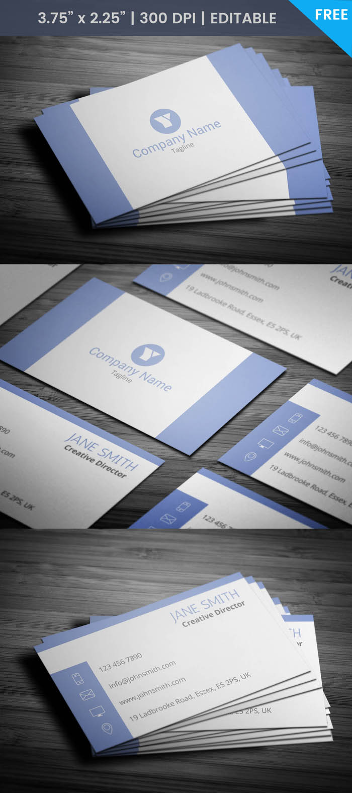 Free Creative Director Business Card Template
