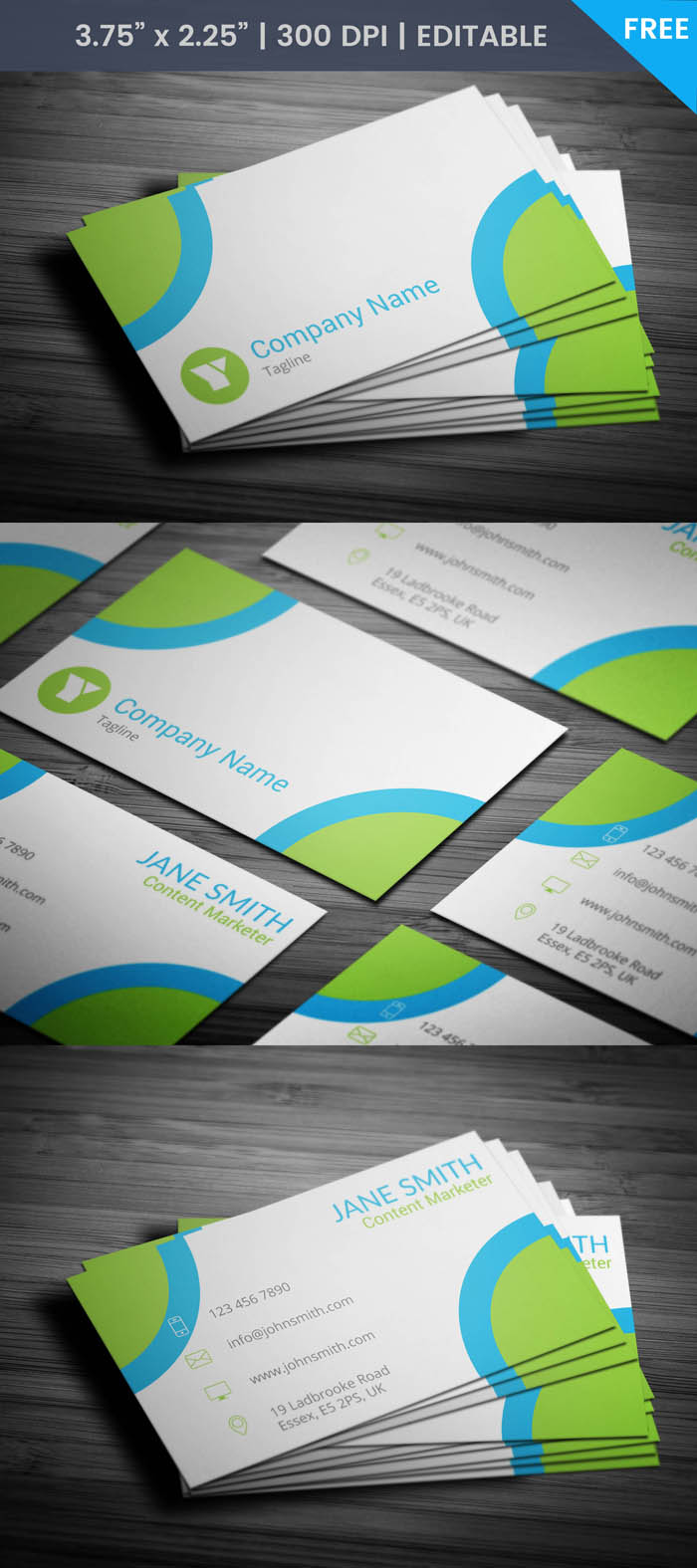 Free Content Marketer Business Card Template
