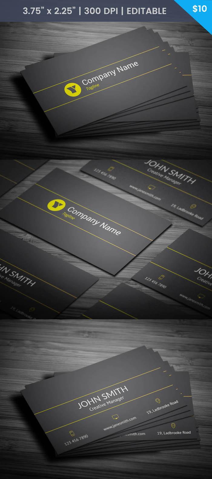 Free Modern Developer Business Card Template