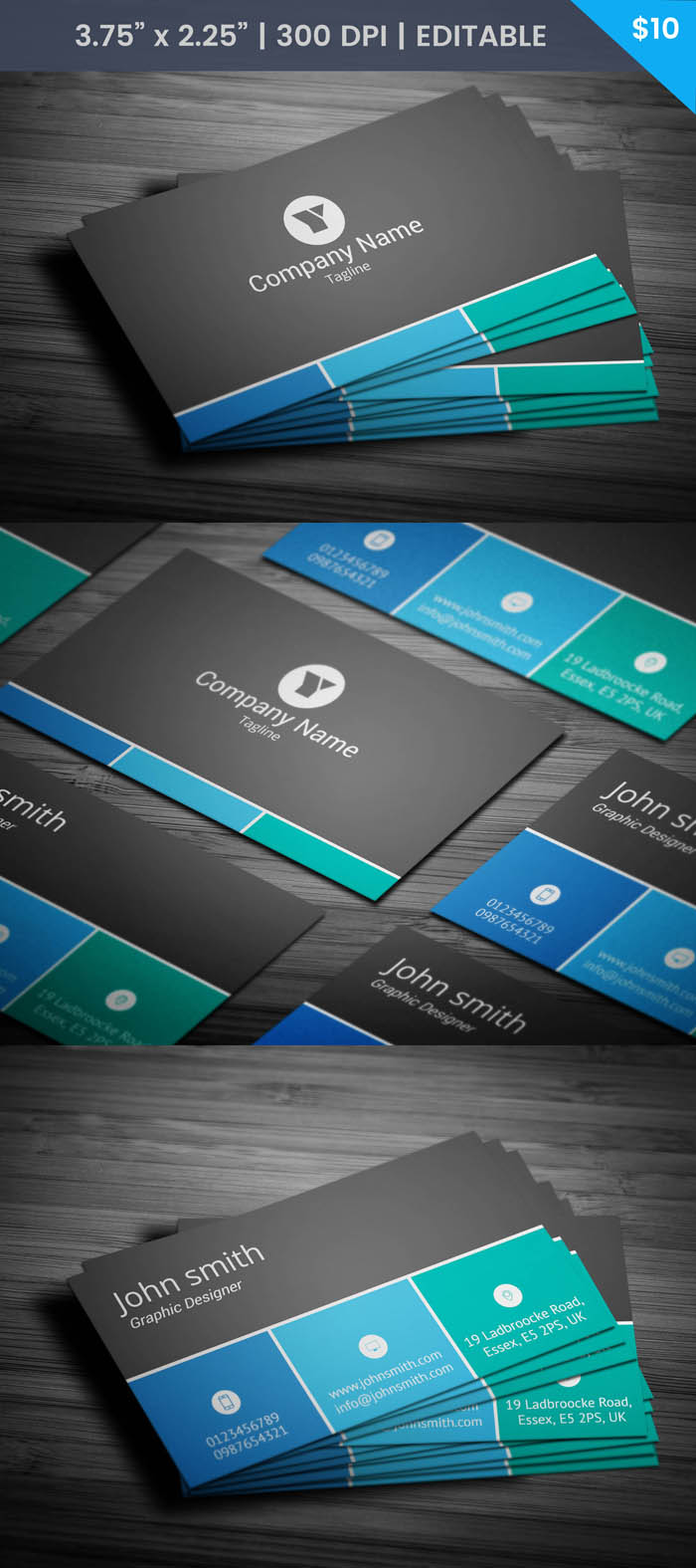Free Sales Executive Business Card Template