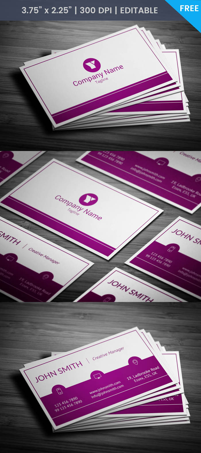 Woman Manager Business Card - Full Preview