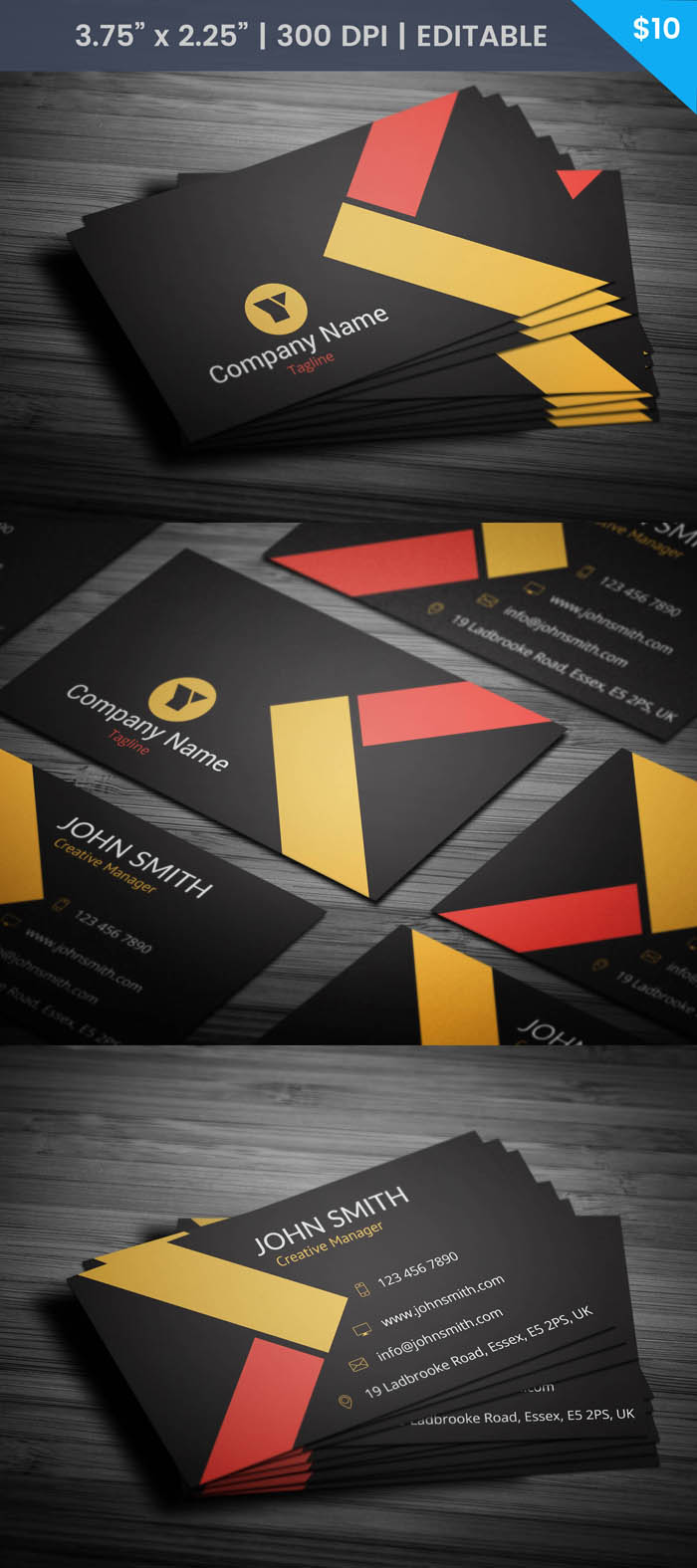 Free Classy Business Card Template