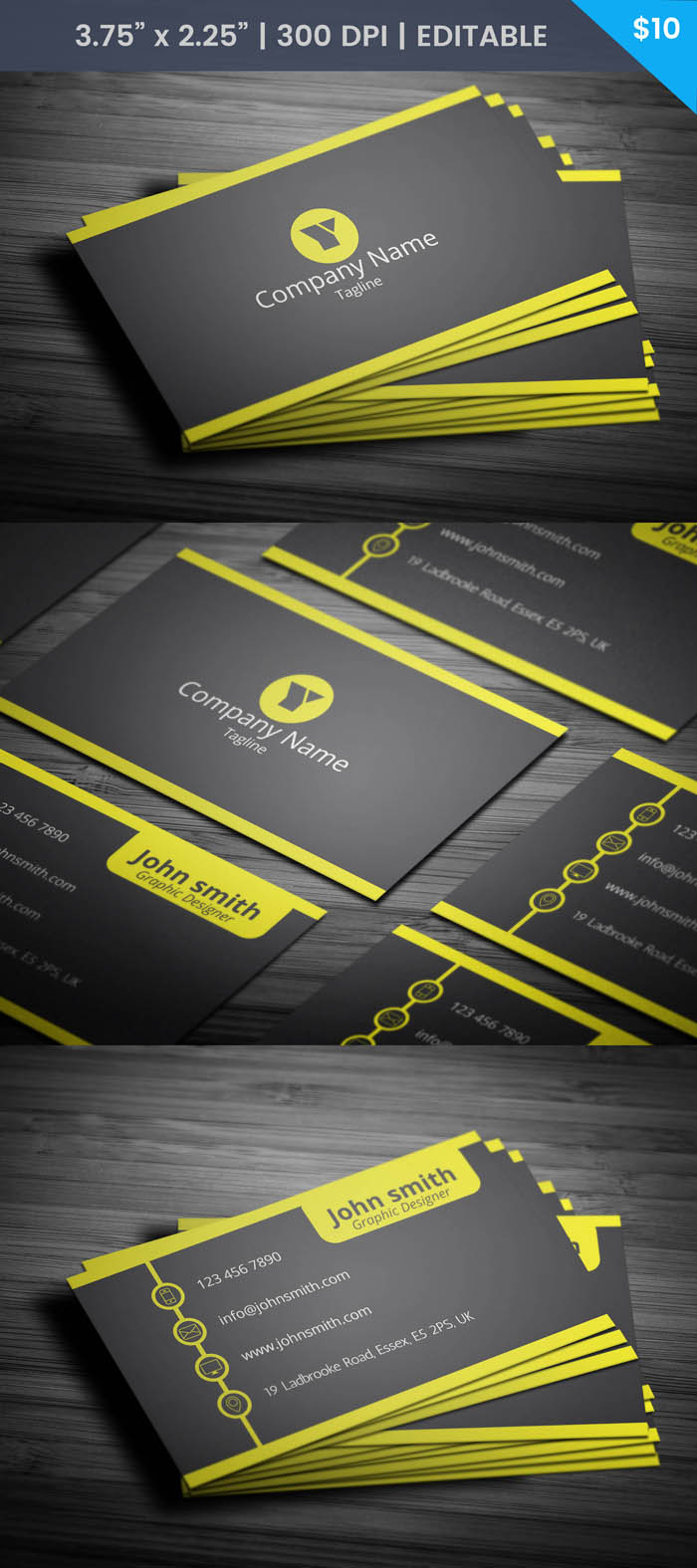 Free Management Business Card Template