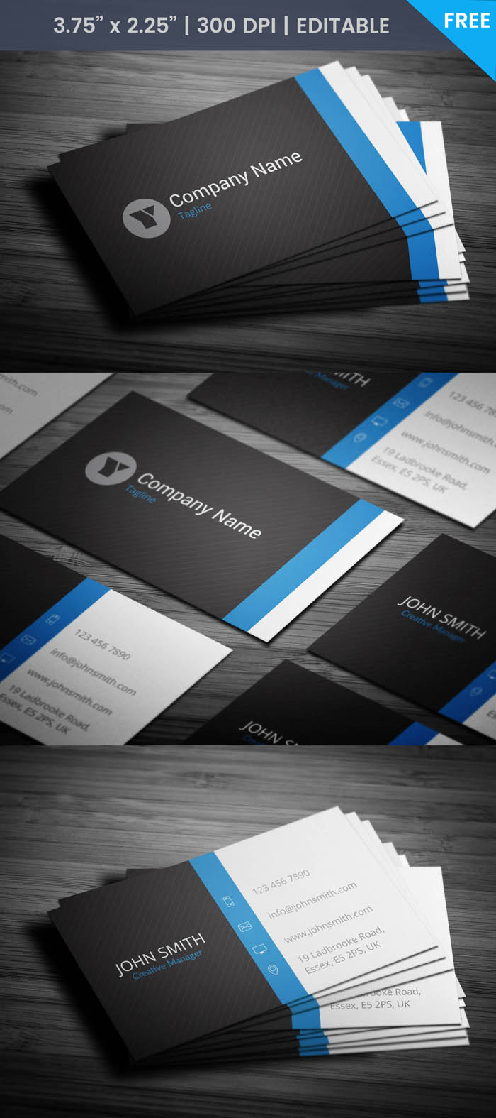 Free Actress Business Card Template