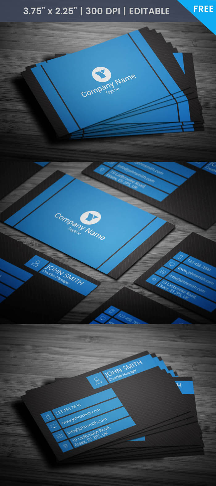 Modern Entrepreneur Business Card - Full Preview