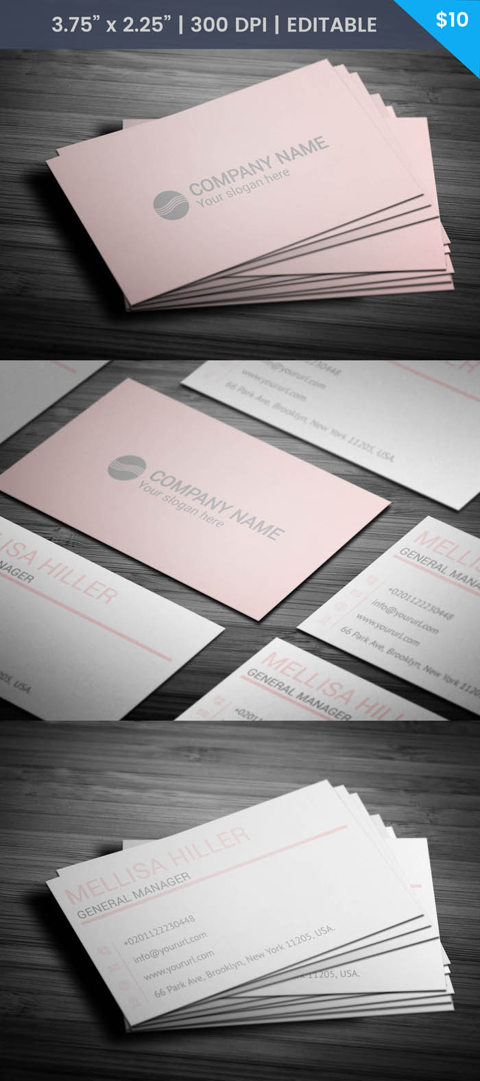 Free Female Business Card Template