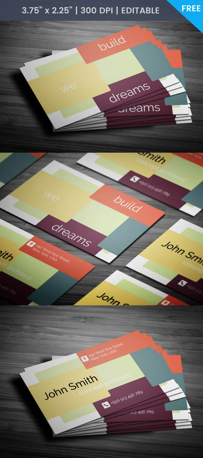 Free Fancy Architect Business Card Template
