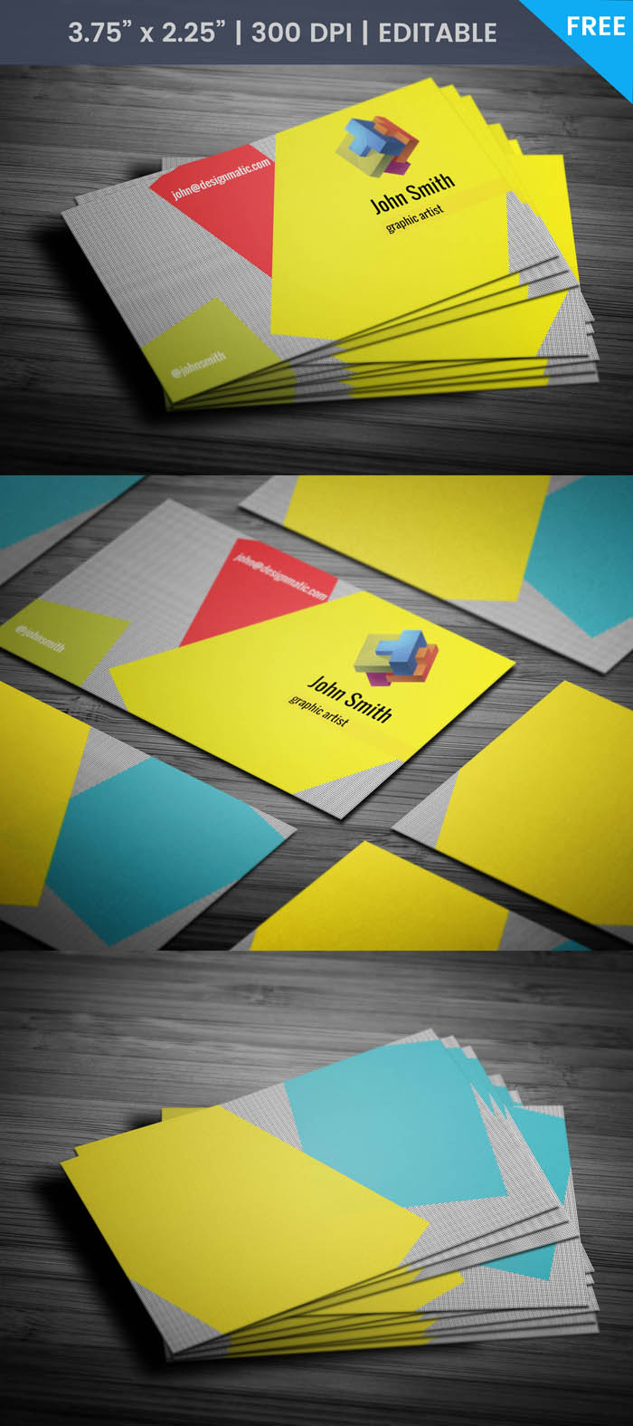 Free Artists Business Card Template