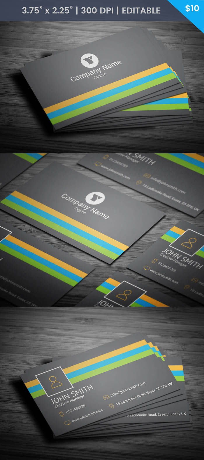 Free Marketing Manager Business Card Template
