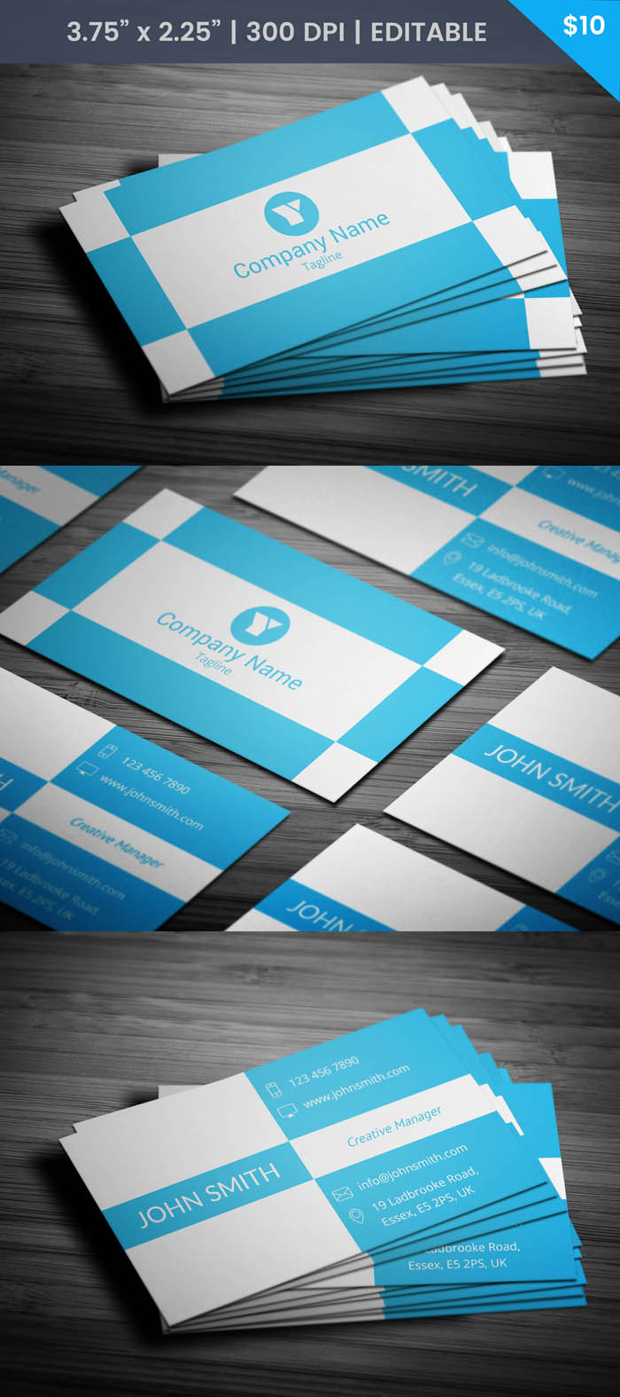 Free Trendy Business Card Template