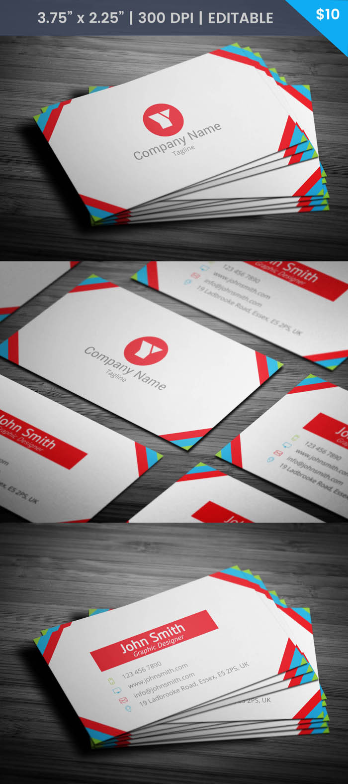 Free Female Actress Business Card Template