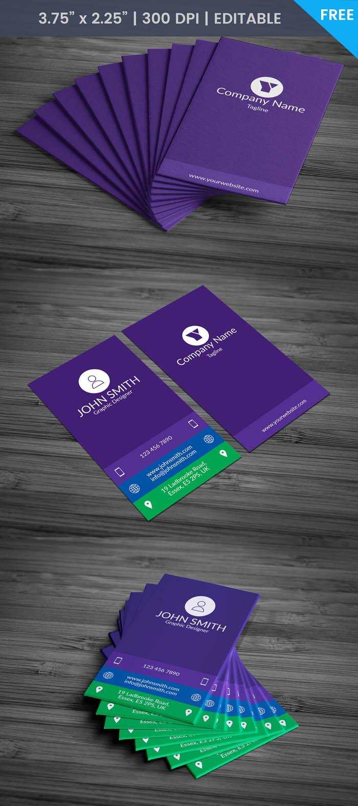 Free Female Developer Business Card Template