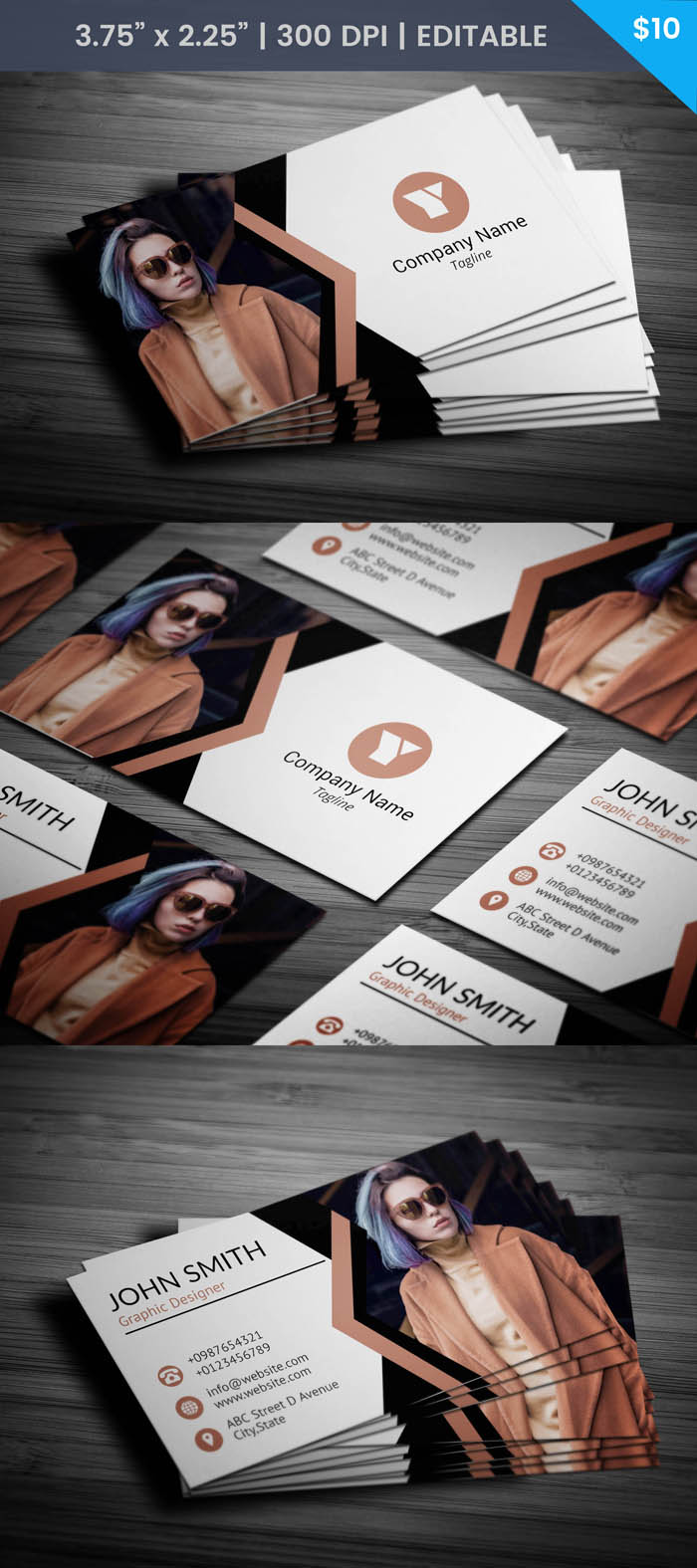 Fashion Blogger Business Card - Full Preview