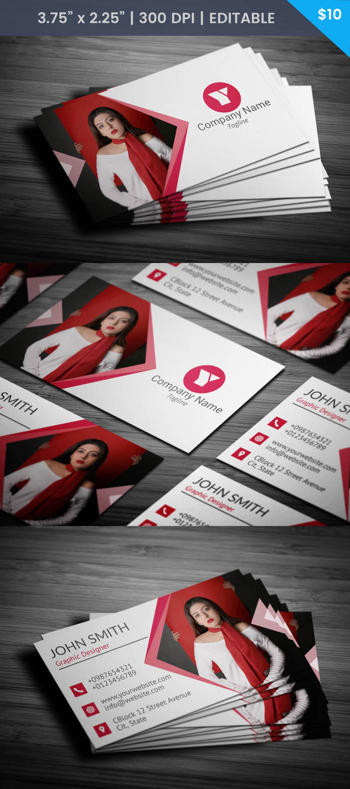 Designer With Photo Business Card - Full Preview