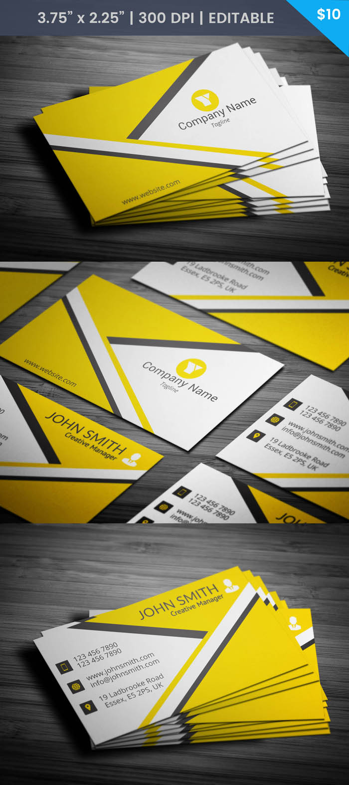 Free Creative Manager Business Card Template