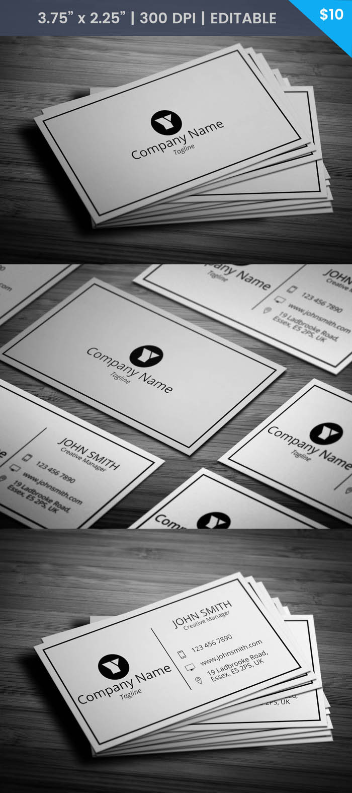 Manager Business Card - Full Preview