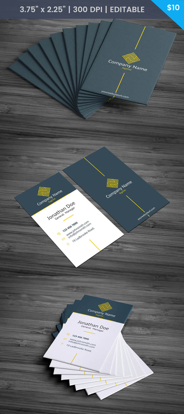Free President Business Card Template