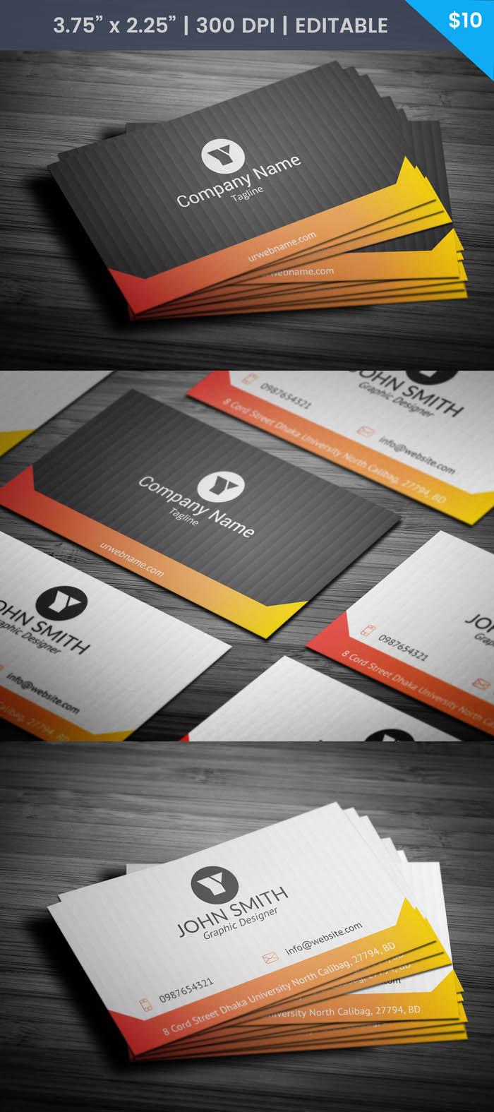 Free Designer Business Card Template
