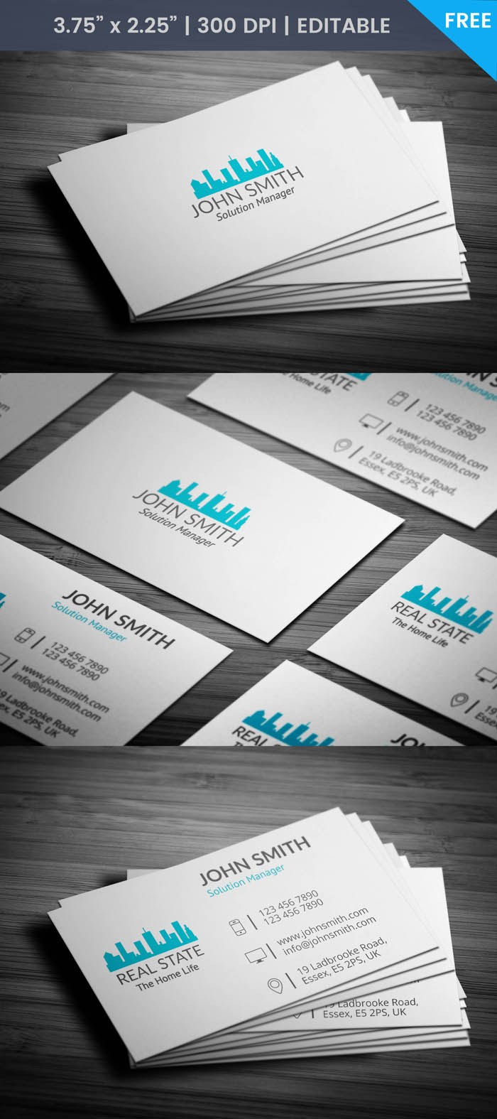Free Real Estate Builder Business Card Template